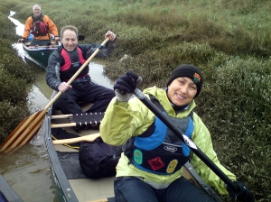 Happy canoeing, just before capsizing