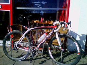 Wilier Cento Uno coffee stop