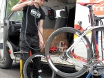 Daz, Pro race mechanic and Strada wheel builder