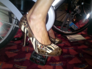 Sylvie's cycling shoes