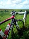 Beautiful bike, beautiful day, beautiful place