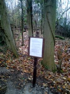 Trail head notice