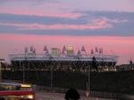 Athletic stadium and Canary Wharf