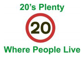 20's Plenty where people live