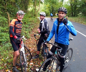 Harting Hill - best descent in Sussex! JP, Jes & Bing