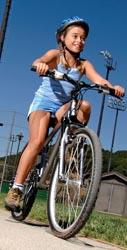 girl child on a bike